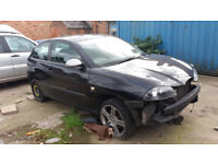 2006 SEAT IBIZA FR T PETROL 1.8 TURBO DAMAGED SALVAGE CHEAP BARGAIN IDEAL FOR SPARES