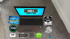 HP PROBOOK LAPTOP (CORE i5, HD+, 6GB, 500GB 7.2K)