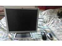 Monitor, USB mouse, keyboard