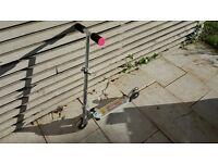 Lightning Strike Light Rod Foldable Pink Scooter