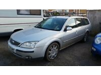 Ford Mondeo 2001 GHIA Silver Estate Breaking for Parts