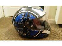Box heavy duty motorbike helmet small size.