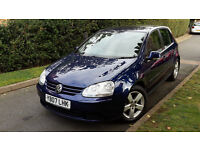 2007 VW GOLF 2.0 TDI SPORT 5 DOOR,ONE OWNER,6 SPEED,LOW MILEAGE,GOOD COND.