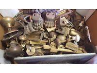Antique /vintage brass/ceramic/wooden door & cupboard door knobs ect