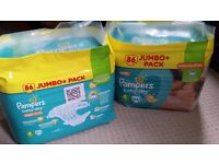 2x86 Baby-dry Pampers size 4