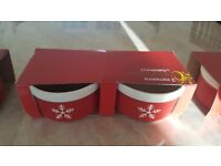 Brand New Excellent Condition Christmas Ramekins - Pack of 2 - Perfect for Gifts