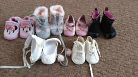 First size baby shoes ( 6 pairs )