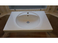 Keramag Preciosa Wash basin 800 x 550 mm, with tap hole, with overflow for sale.