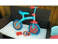 Thomas 2 in 1 Balance Bike plus Pedals and Stabilisers