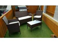 Rattan 4 piece garden furniture set