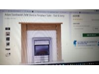 Electric Fireplace Suite - Oak and Ivory NEW