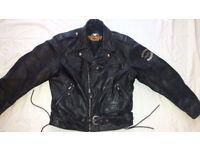 HARLEY DAVIDSON HERITAGE LARGE 44 46 48 SCREAMIN EAGLE EMBOSSED LEATHER BIKER JACKET MOTORCYCLE L