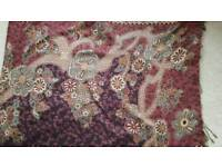 JOE BROWNS BROWN PATTERN SHAWL - NEW