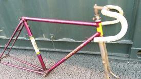 FH Carpenter vintage steel 531 rare c1945 road bike frame