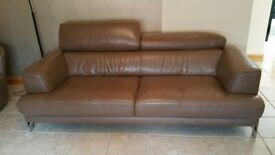 Italian leather DFS sofa and 2 armchairs. Immaculate condition!