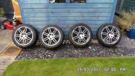 ALLOY WHEELS FITTED WITH COLD WEATHER TYRES