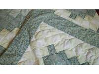 Patchwork throw and pillow cases