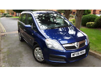 2006 VAUXHALL ZAFIRA 1.6 PETROL,ONLY 88.000mil.7 SEATER,VERY GOOD COND.