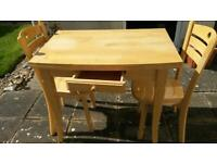Extending Table with 2 x chairs