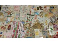 Job lot of used embellishments/toppers for card making crafts