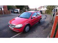 Vauxhall corsa 1 litre 52 reg