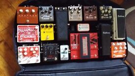 Pedaltrain Pro pedalboard with soft gig bag