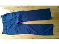 flatering smart navy trousers from NEXT in size UK12L