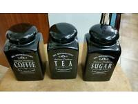 Tea coffee & sugar jars Mrs winterbottom's