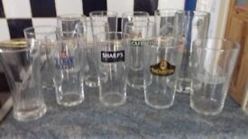 87 pint glasses lager cider guiness and real ale