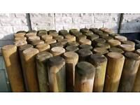 Wooden posts