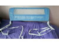 Blue lindam bed guard used few times