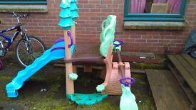 Little Tikes Garden slide and seesaw