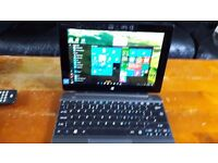 ACER SWITCH 10.1 2 in 1 laptop 1 month old 64 gig hard drive