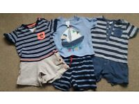 3x boys outfits 3-6m