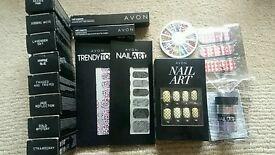 Avon nail varnish, nail gems, nail art, corrector pen
