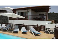 Luxury Villa VL22 in Lanzarote Playa Blanca 4 Beds Sleeps 10 Panoramic Sea Views Hot Tub Play Area
