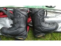 Snowboard boots and bag all in used condition! Can deliver or post