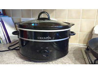 Crock Pot Slow Cooker - Black - £7