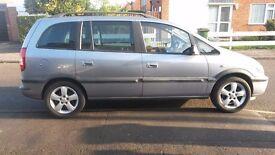 2004 7 seater Vauxhall Zafira 1.6 Zetec 9 mths MOT