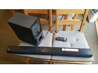 Bluetooth LG Soundbar with wired Subwoofer 2.1 CH 120W with remote control LAS350B