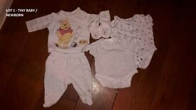 Lot 1 - Baby bundles - 3 for £10 - Tinybaby/Newborn