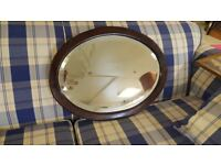 Oval Bevelled Glass Mirror