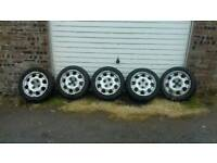 Set of 5 205/309 gti speedline alloys