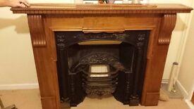 Beautiful cast iron fireplace amd wooden surround pub fire?