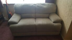 sofa recliner 2 seater Suede type fabric