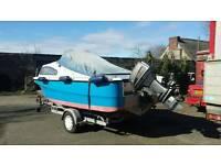 Boat on trailer plus engine