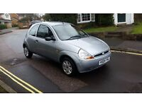 2004 FORD KA STYLE 1.3 PETROL 3 DOOR HATCHBACK SILVER 66,000 MILES MOT AUGUST 2017 2KEYS