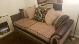 Nearly new 4 SEAT DFS SOFA Milk and Chocolatate combination
