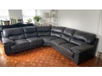 Large 6/7 Seater Leather Corner Sofa