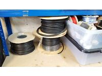 JOB LOT ELECTRONIC & ELECTRICAL EQUIPMENT, CABLE, POWER SUPPLY, SOLDER IRON, BLANK TEST BOXES